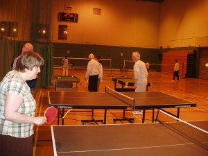 Members playing Table Tennis