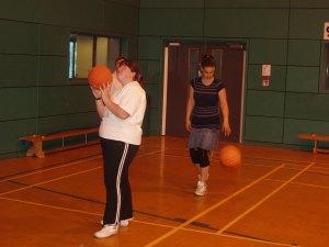 Members playing Basketball