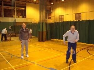 Members enjoying a game of Badminton